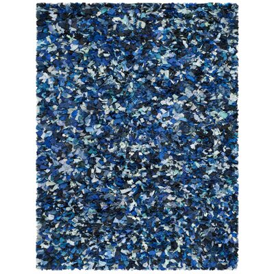 Messiah Hand-Tufted Blue/Black Area Rug Rug Size: Rectangle 6 x 9