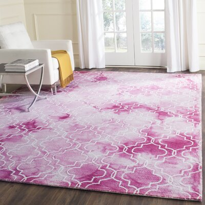 Jawhar Hand-Woven Rose/Ivory Area Rug Rug Size: Rectangle 8 x 10