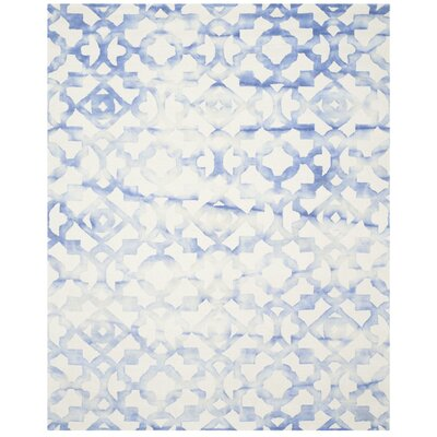 Jawhar Ivory/Blue Area Rug Rug Size: 9 x 12