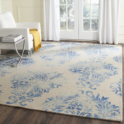 Jawhar Beige/Blue Area Rug Rug Size: Rectangle 3 x 5