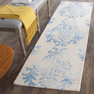 Jawhar Beige/Blue Area Rug Rug Size: Runner 23 x 8