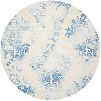 Jawhar Beige/Blue Area Rug Rug Size: Round 7