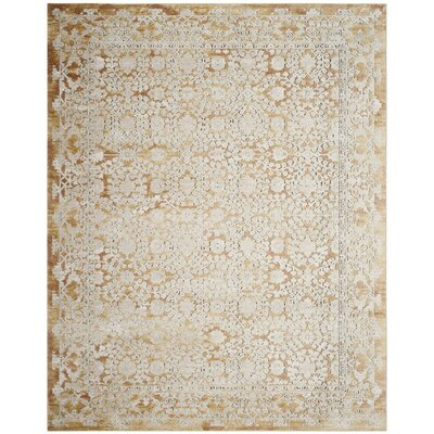 Bray Gold/Beige Area Rug Rug Size: Rectangle 9 x 12