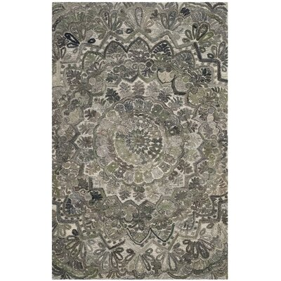 Brantley Hand-Tufted Gray Area Rug Rug Size: Round 6