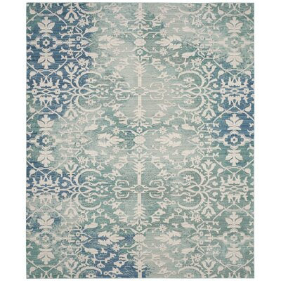 Lulu Blue/Ivory Area rug Rug Size: Rectangle 8 x 10