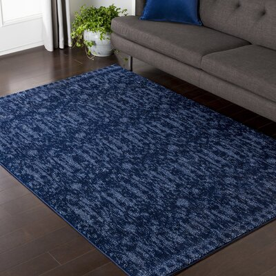 Carmel Blue Area Rug Rug Size: Rectangle 53 x 76