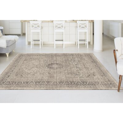 Josue Cream Area Rug Rug Size: 76 x 103