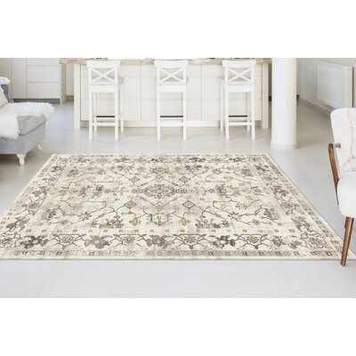Josue Cream Area Rug Rug Size: 53 x 73