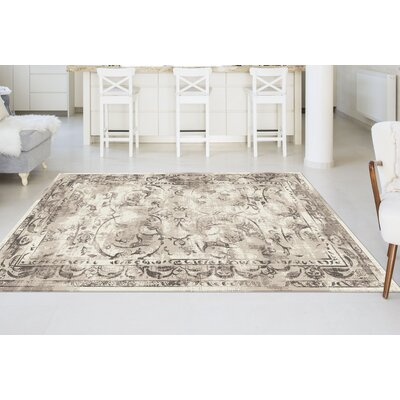 Josue Beige Area Rug Rug Size: Rectangle 76 x 103