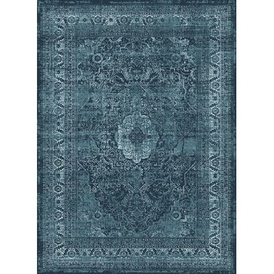 Josue Blue Area Rug Rug Size: Rectangle 8 x 10