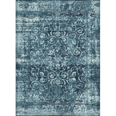 Josue Blue Area Rug Rug Size: Rectangle 76 x 103
