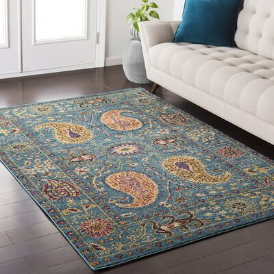 Nichole Paisley Blue Area Rug Rug Size: Rectangle 710 x 103