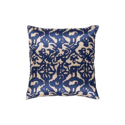 Tatum Polyester Pillow Cover Size: 18 H x 18 W, Color: Wheat/Navy