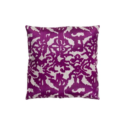 Tatum Polyester Throw Pillow Size: 20 H x 20 W, Color: Bright Purple/Camel