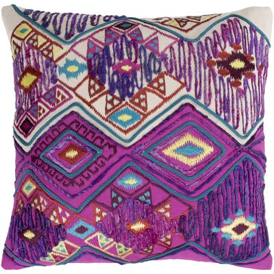 Gauge 100% Cotton Pillow Cover Color: Bright Purple/Bright Pink, Size: 20 H x 20 W