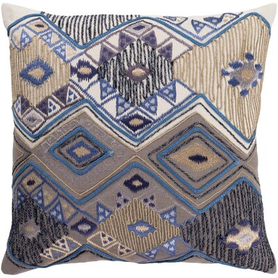 Gauge 100% Cotton Pillow Cover Size: 20 H x 20 W, Color: Cream/Taupe