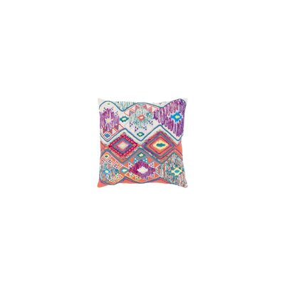 Gauge 100% Cotton Throw Pillow Size: 18 H x 18 W, Color: Cream/Orange
