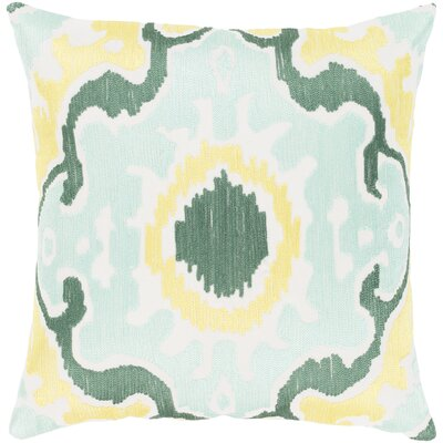 Ayaan 100% Cotton Pillow Cover Color: Mint/Emerald/Butter, Size: 20 H x 20 W