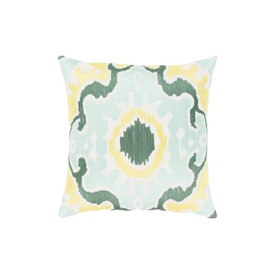 Ayaan 100% Cotton Throw Pillow Size: 18 H x 18 W, Color: Mint/Emerald/Butter