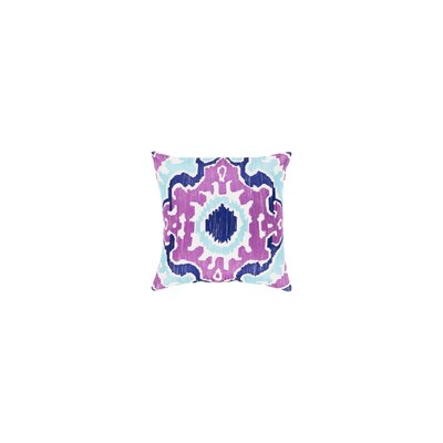 Ayaan 100% Cotton Throw Pillow Color: Bright Purple/Violet/Aqua, Size: 22 H x 22 W