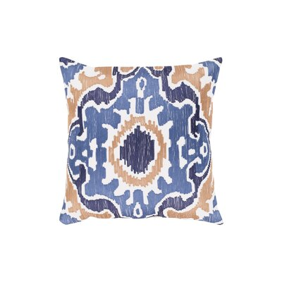 Ayaan 100% Cotton Throw Pillow Size: 18 H x 18 W, Color: Denim/Navy/Camel