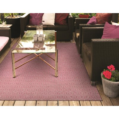 Alonso Hand-Woven Reversible Pink Indoor/Outdoor Area Rug Rug Size: 2 x 3