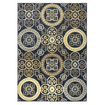 Anthony Black Area Rug Rug Size: 710 x 1010