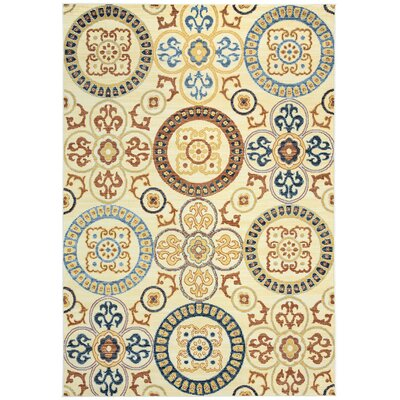 Anthony Ivory Area Rug Rug Size: Rectangle 67 x 96