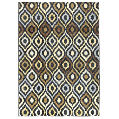 Anthony Black Area Rug Rug Size: Rectangle 67 x 96