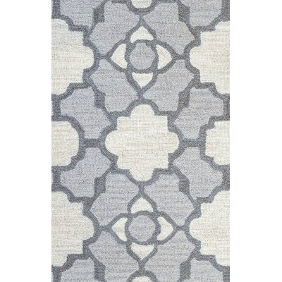 Viktualien Hand-Tufted Light Gray Area Rug Rug Size: Runner 26 x 8