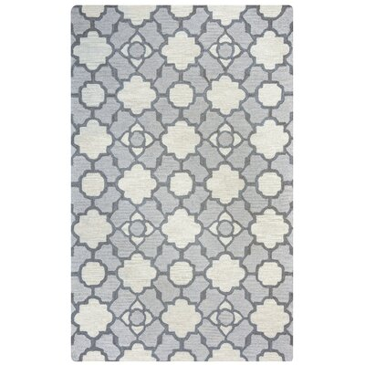Viktualien Hand-Tufted Light Gray Area Rug Rug Size: Rectangle 5' x 8'