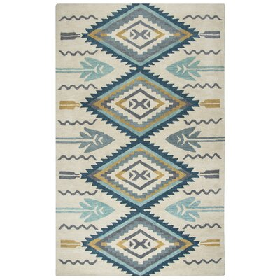 Pascal Hand-Tufted Aqua Area Rug Rug Size: Rectangle 9 x 12