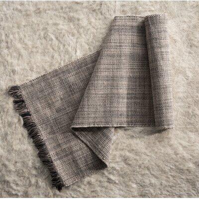 Flatwoven Gray Area Rug Rug Size: Runner 26 x 8