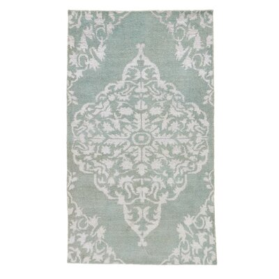 Lisse Hand-Knotted Blue Area Rug Rug Size: Rectangle 5 x 8