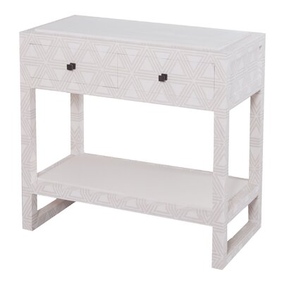Manya Fabric Wrapped 2 Drawer Nightstand