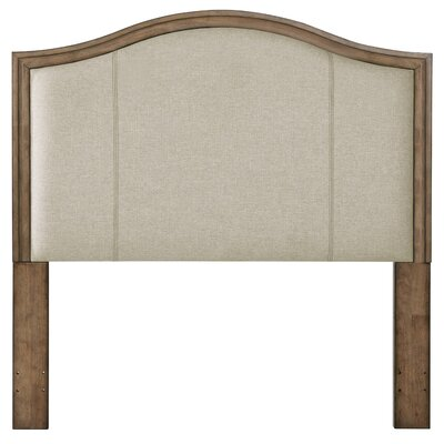 Avery Camel Back Wood Queen Upholstered Panel Headboard