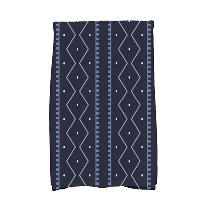 Arlo Dots Geometric Hand Towel Color: Navy Blue