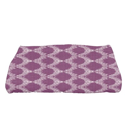 Arlo Mudcloth Geometric Bath Towel Color: Purple