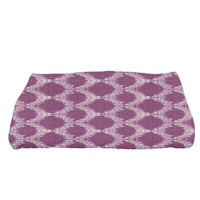 Molly Mudcloth Geometric Bath Towel Color: Purple