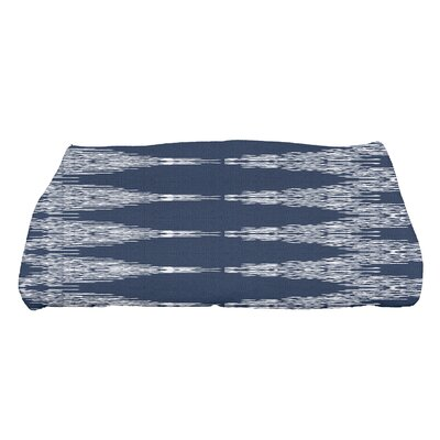 Molly Rugby Geometric Bath Towel Color: Navy Blue