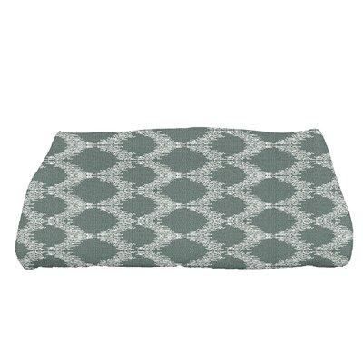 Arlo Mudcloth Geometric Bath Towel Color: Green