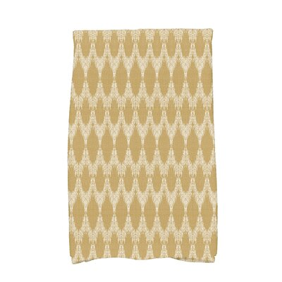 Molly Mudcloth Geometric Hand Towel Color: Gold