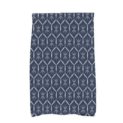 Arlo Asterisk Geometric Hand Towel Color: Navy Blue
