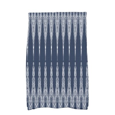 Arlo Geometric Hand Towel Color: Navy Blue