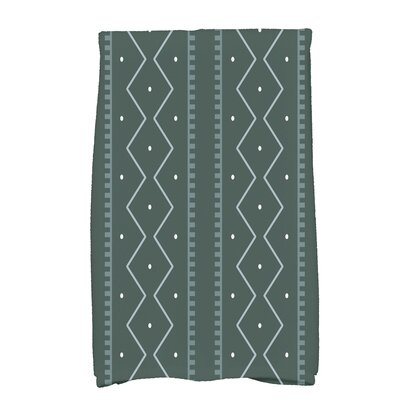 Arlo Dots Geometric Hand Towel Color: Green