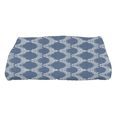 Arlo Mudcloth Geometric Bath Towel Color: Blue