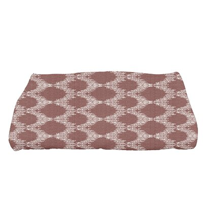 Arlo Mudcloth Geometric Bath Towel Color: Maroon