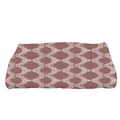 Arlo Mudcloth Geometric Bath Towel Color: Maroon