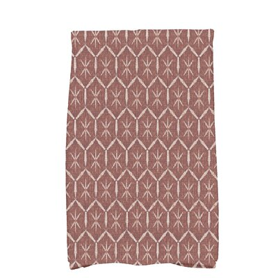 Molly Button Up Geometric Hand Towel Color: Maroon