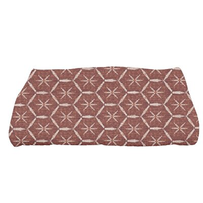 Arlo Asterisk Geometric Bath Towel Color: Maroon